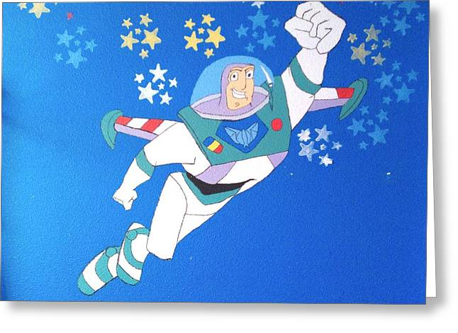 Transfer Paintings Greeting Cards - To infinity  Greeting Card by Laurie Dedmon