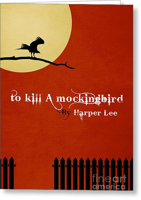 Book Jacket Greeting Cards - To Kill a MockingBird Book Cover Movie Poster Art 2 Greeting Card by Nishanth Gopinathan