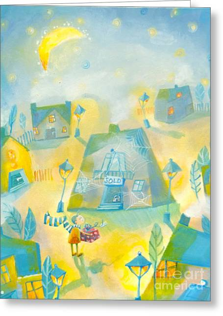Couple With House Greeting Cards - To late Greeting Card by Alexandra Krasuska