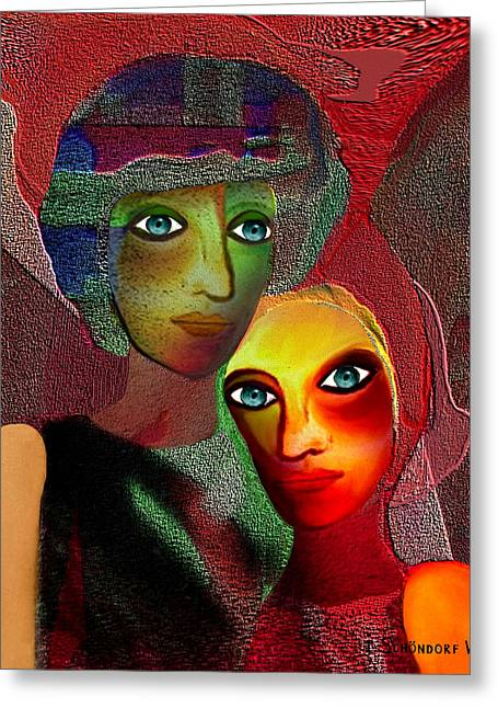 Gimp Greeting Cards - 002 - To Lean on    Greeting Card by Irmgard Schoendorf Welch