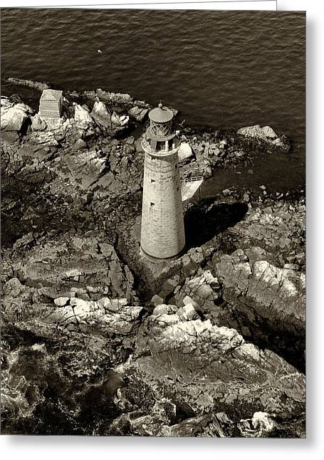 Recently Sold -  - Ledge Greeting Cards - To Light The Graves Black and White Greeting Card by Joshua House