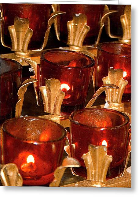 To Lite A Candle Greeting Card by Karol Livote