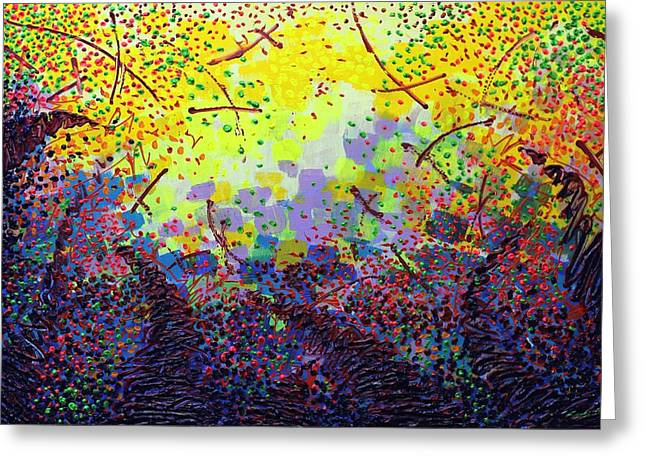 Abstract Art Greeting Cards Greeting Cards - To Make Visible The Invisible  IX Greeting Card by John  Nolan
