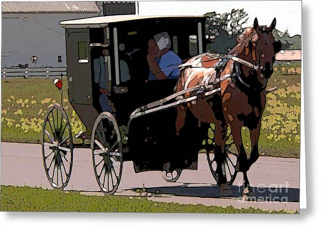 Amish Greeting Cards - To market Greeting Card by David Bearden