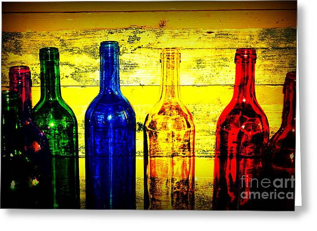 Fine Bottle Greeting Cards - To Much of Wine Greeting Card by Susanne Van Hulst