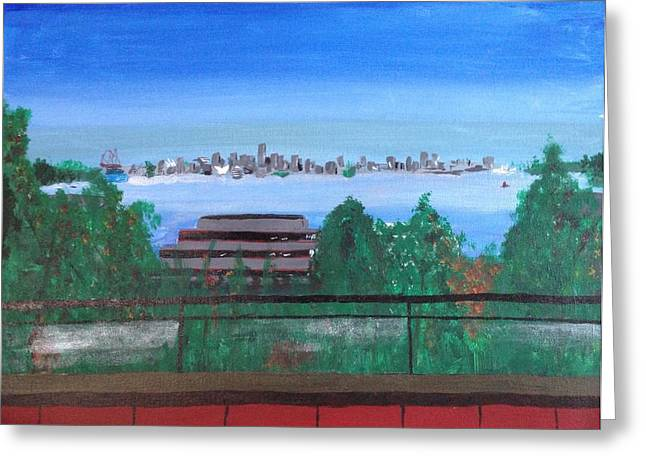 North Vancouver Paintings Greeting Cards - To Owe Won Greeting Card by Elliott Cooper