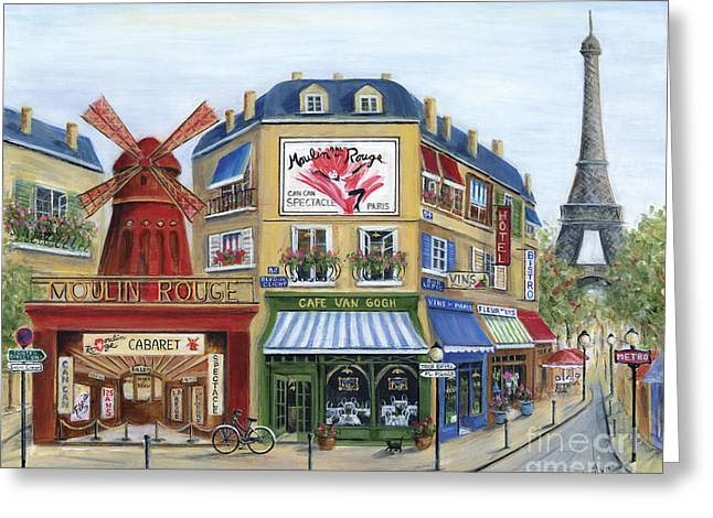 Rooftops Greeting Cards - To Paris With Love Greeting Card by Marilyn Dunlap
