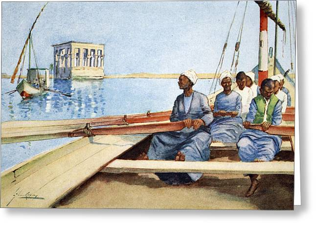 Rowers Greeting Cards - To Philae In A Felucca, From The Light Greeting Card by Lance Thackeray