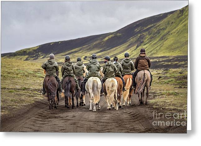 Horseback Photographs Greeting Cards - To Ride The Paths Of Legions Unknown Greeting Card by Evelina Kremsdorf