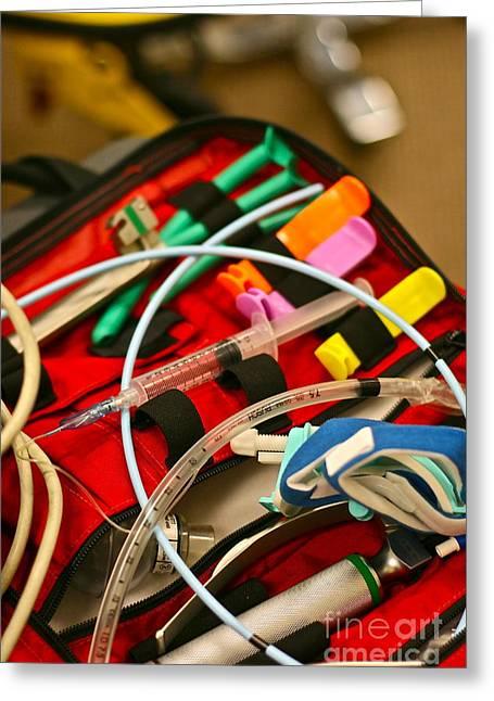 Medic Greeting Cards - To Save A Life Greeting Card by Rick  Monyahan