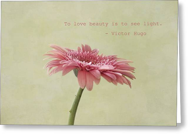 To See Light Greeting Card by Kim Hojnacki