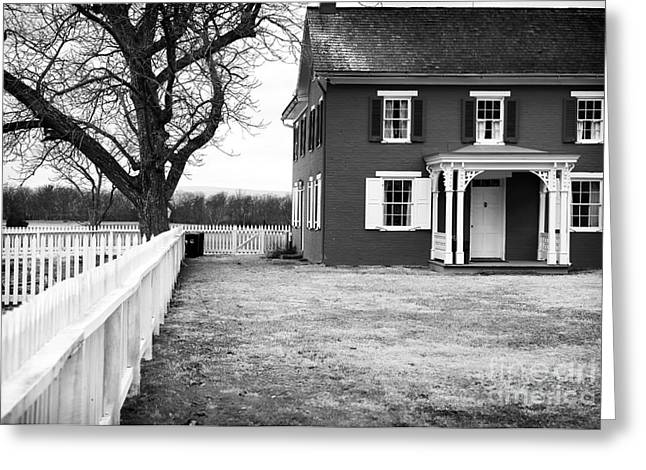 Red School House Greeting Cards - To Sherfys House Greeting Card by John Rizzuto