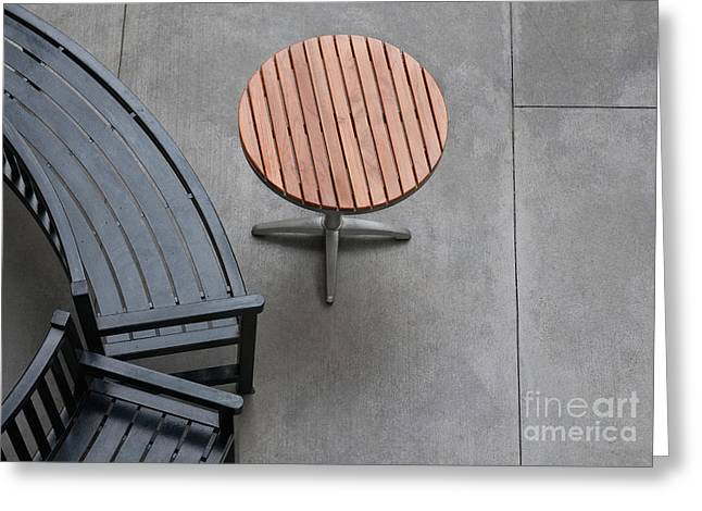 Kitchen Photos Greeting Cards - To Sit And To Set Greeting Card by Dan Holm