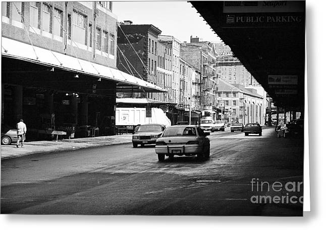To South Street 1990s Greeting Card by John Rizzuto
