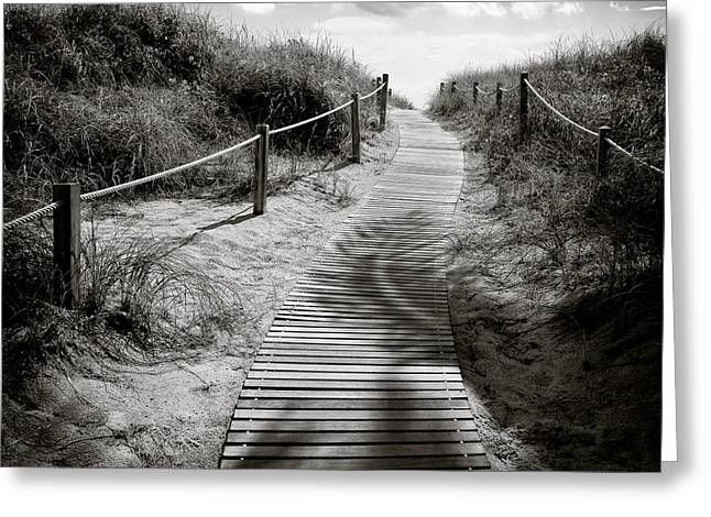 Monochrome Greeting Cards - To the Beach Greeting Card by Dave Bowman