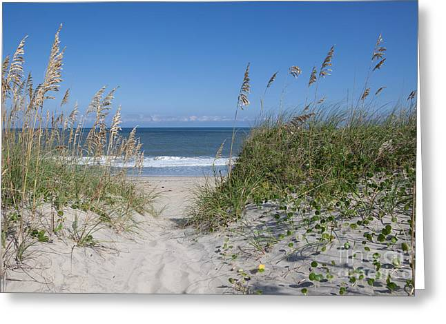 To The Beach Greeting Card by Kay Pickens