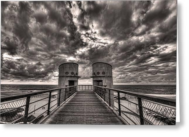 to the bridge Greeting Card by Ron Shoshani