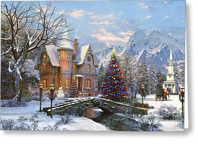 Seasonal Digital Art Greeting Cards - To the Church Best Greeting Card by Dominic Davison