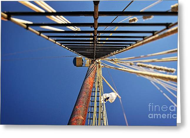Sailing Ship Greeting Cards - The Climb Greeting Card by Chris Fleming