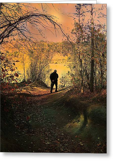 Shirley Sirois Greeting Cards - To the Fields of Light Greeting Card by Shirley Sirois