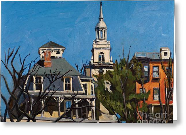 Height Paintings Greeting Cards - To the Heights Greeting Card by Deb Putnam