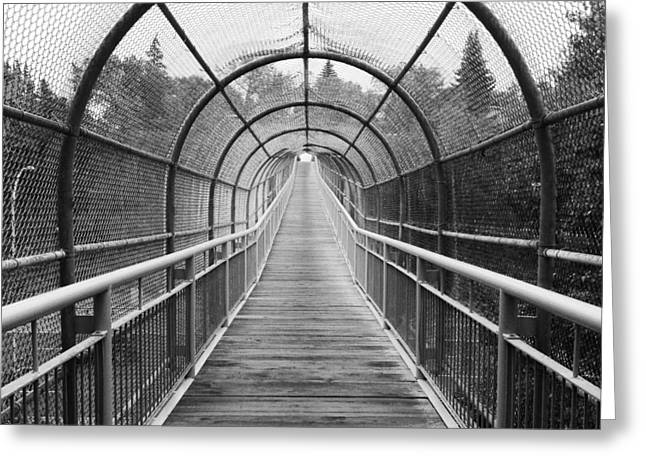 Walking Bridge Greeting Cards - To The Hills  Greeting Card by Jerry Cordeiro