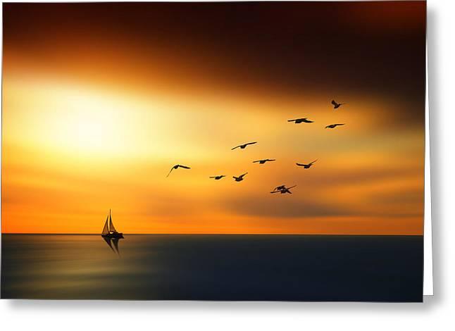 Marek Czaja Greeting Cards - To the light... Greeting Card by Marek Czaja