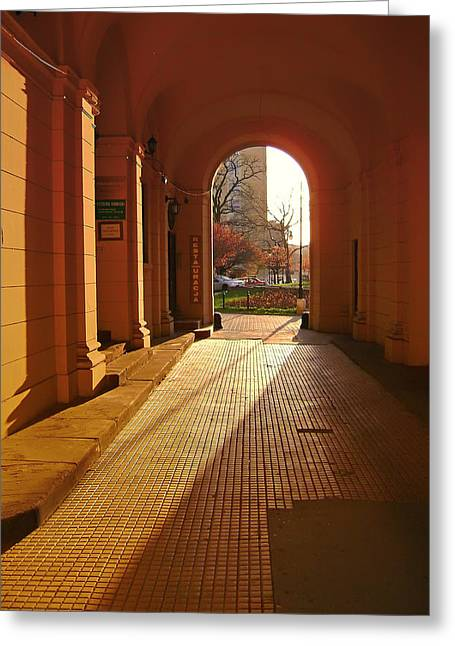 Sidewalks. Arches Greeting Cards - To the Light Greeting Card by Mountain Dreams