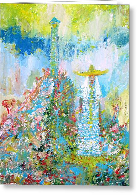 Lanscape Paintings Greeting Cards - To The Lighthouse Greeting Card by Fabrizio Cassetta