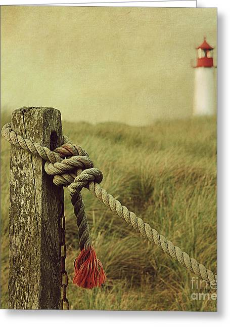 Hannes Cmarits Greeting Cards - To The Lighthouse Greeting Card by Hannes Cmarits
