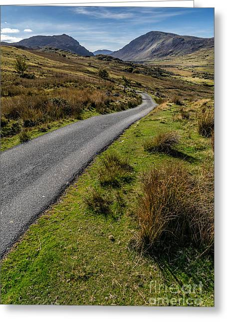 Winding Road Greeting Cards - To The Mountains Greeting Card by Adrian Evans