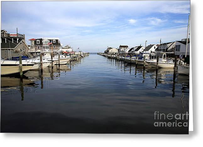 Boats At Dock Greeting Cards - To the Sea at LBI Greeting Card by John Rizzuto