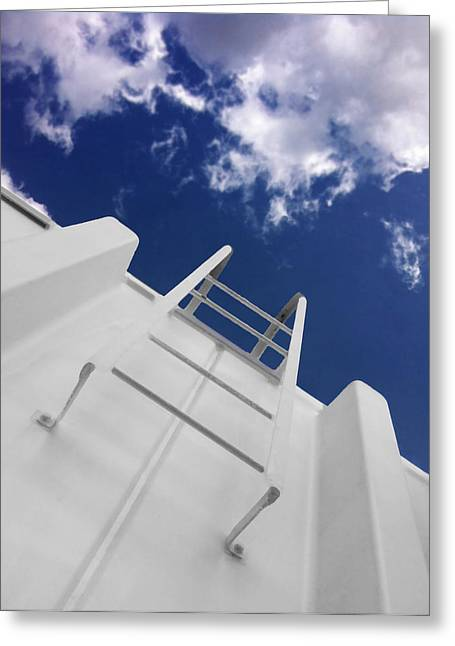 Fire Escapes Greeting Cards - To The Top Greeting Card by Don Spenner
