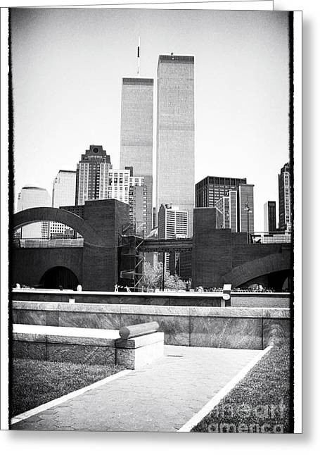 To The Towers 1990s Greeting Card by John Rizzuto