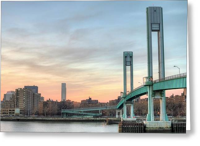 Harlem River Greeting Cards - To the Upper East Side Greeting Card by JC Findley