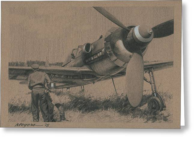 Aviator Drawings Greeting Cards - To the Victors Greeting Card by Wade Meyers