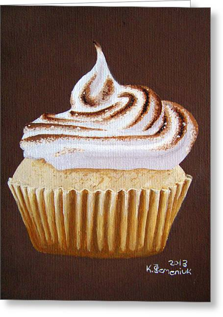 Toast Paintings Greeting Cards - Toasted Peak Greeting Card by Kayleigh Semeniuk