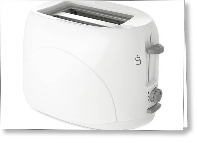 Toaster Greeting Card by Science Photo Library