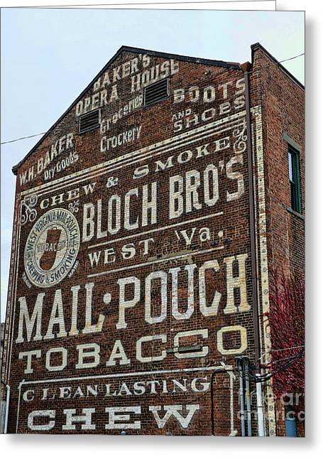 Chewing Tobacco Greeting Cards - Tobacciana - Mail Pouch Tobacco Greeting Card by Paul Ward