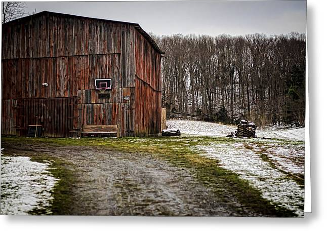 Tobacco Barns Greeting Cards - Tobacco Barn Greeting Card by Heather Applegate