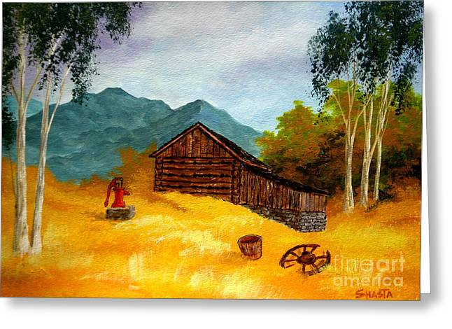 Disney Artist Greeting Cards - Tobacco  Barn Greeting Card by Shasta Eone