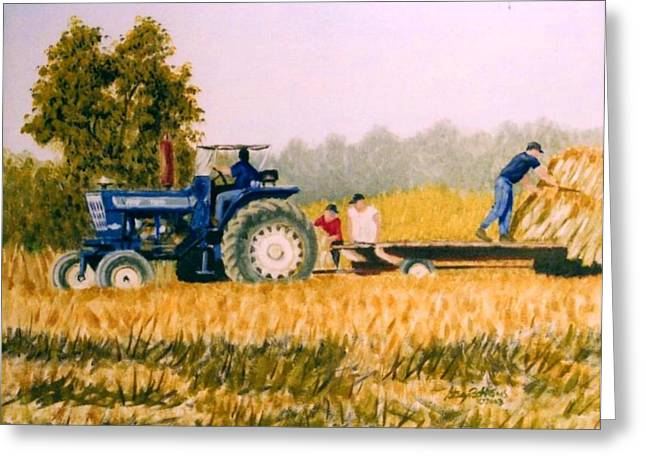 Stacy Bottoms Greeting Cards - Tobacco farmers Greeting Card by Stacy C Bottoms