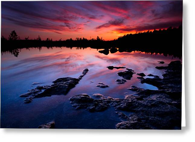 Sony Greeting Cards - Tobermory Sunset Greeting Card by Cale Best
