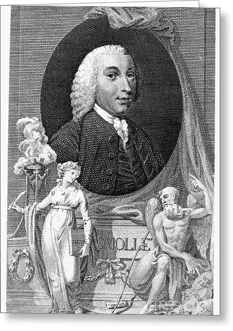 Engraving Greeting Cards - Tobias George Smollett Greeting Card by Granger