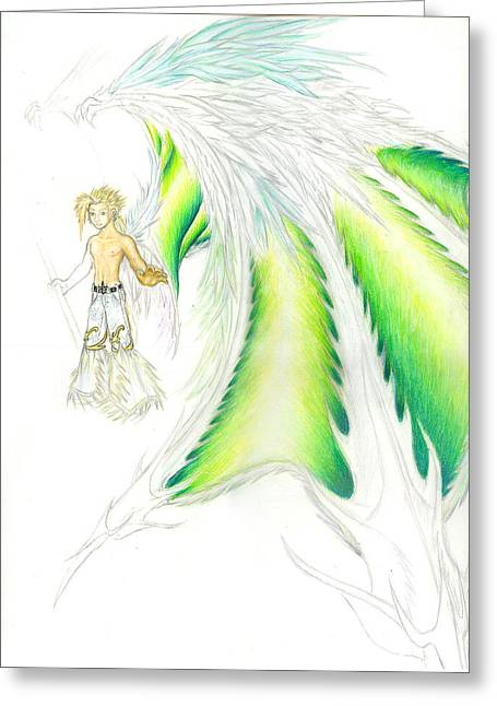 Draconic Greeting Cards - Tobias Incomplete Greeting Card by Shawn Dall