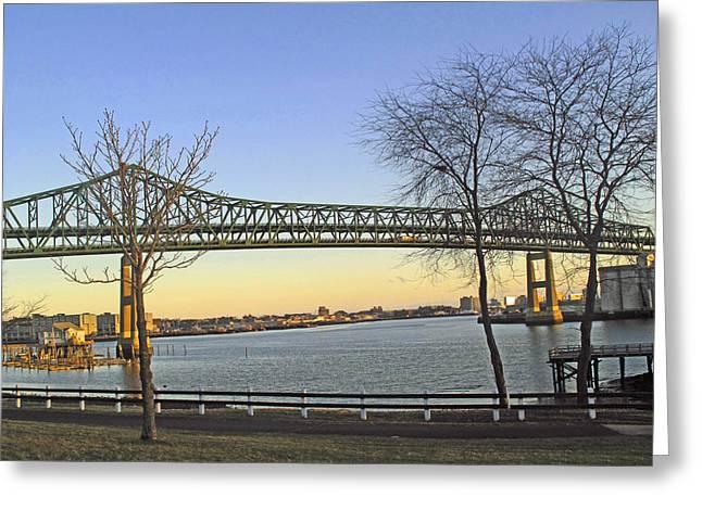 Tobin Bridge Greeting Card by Barbara McDevitt