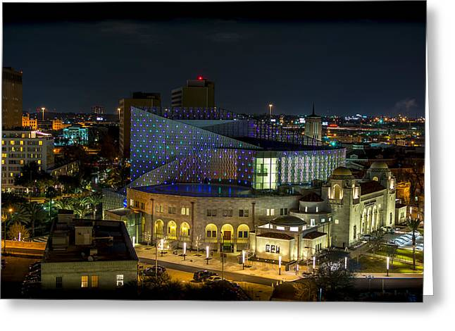 Local Restaurants Greeting Cards - Tobin Center for the Performing Arts Greeting Card by David Morefield