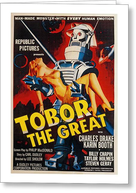 1954 Movies Greeting Cards - Tobor the Great Greeting Card by Trevor McCabe