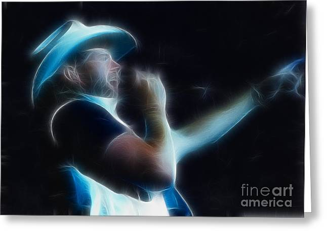 Gingrich Photography Digital Art Greeting Cards - Toby Keith Fractal Greeting Card by Gary Gingrich Galleries