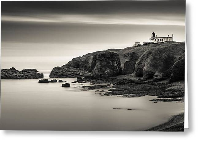 North Sea Greeting Cards - Tod Head Lighthouse Greeting Card by Dave Bowman